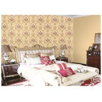 Italy Style Girls Bedroom Wallpaper Feature Wall , Damask Pattern Wallpaper Manufactures