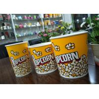 Food Grade 64oz 85oz 130oz Paper Popcorn Buckets Generic Yellow Manufactures