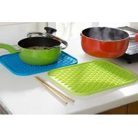 Rectangle Anti-slip Silicone Pod Mat , Durable Multifuction Kettle Pad 217 x 160 x 6mm Manufactures