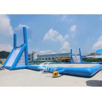 45x30m mobile giant inflatable rugby football field for children N adults from China inflatable manufacturer Manufactures