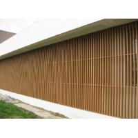 China WPC Wall Cladding Column Panel for Screened Porch , Garden Shed on sale