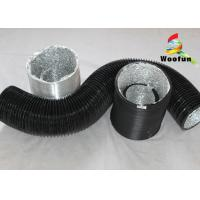 Compressible Round Flexible Duct , Aluminum PVC Air Cooling Ducting Manufactures