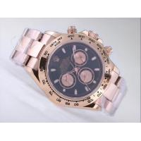 ROLEX DAYTONA CHRONOGRAPH ASIA VALJOUX 7750 MOVEMENT FULL ROSE GOLD WITH BLACK DIAL Manufactures