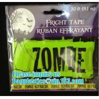 Halloween Caution Tape , Custom Printing Caution Tape Halloween Banner,Halloween Caution Tape zebra tape bagease pack