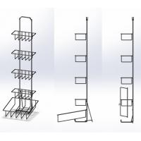 4 Tiers Steel Tea Box Display Stand / Wire Basket Base Display Rack For Tea Pack Manufactures