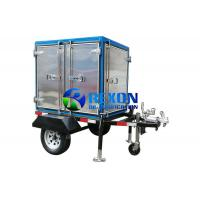 China Mobile And Enclosed Transformer Oil Purifier Machine 1800L / H 2 Car Wheels Type on sale
