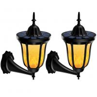 Solar LED Outdoor Wall Lights Flame Dancing Light With Flash Light Control Manufactures