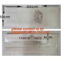 OEM High Quality Enviromental Clear Window Bread Toast Paper Bags, Brown Kraft Sharp Bottom Food Safe Snack Paper Bags Manufactures