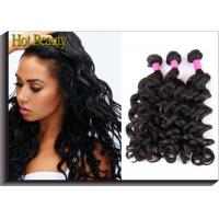 China Brazilian Unprocessed Human Hair Bundles Big Curl Natural Black Full And Thick on sale