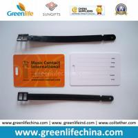 Eco-Friendly High Quality Plastic Promotional PVC Luggage Tag W/Loop Manufactures