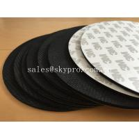 China Black natural foam Rubber mat with 3M adhesive backing for mouse pad and gasket on sale