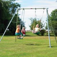 Quality Metal Outdoor Swing Sets , Outdoor Swings For Children Safety Performance for sale
