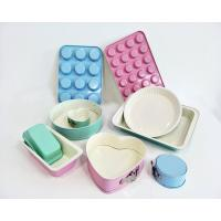 Light Green Blue Pink Turquoise Non-stick Ceramic Coating Bakeware Set loaf muffin pan in Colorful Ceramic Coating Manufactures