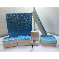 Buy cheap Blue Pearl Jewelry Plastic Box , Leatherette Gift Packaging Boxes from wholesalers