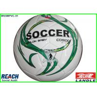Quality Personalized White Traditional Soft Touch Soccer Ball Regulation Size for sale