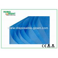 Single Use Non Woven Disposable Bed Sheets with Round Elastic Rubber , White / Blue Color Manufactures