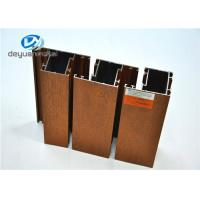 6063-T5 Wood Grain Aluminium Extrusion Profile Polishing For Doors / Window Manufactures