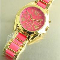 China wholesale alloy gold watch MK thin luxury watches for women men unisex on sale