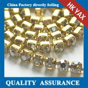China china manufacture rhinestone glass crystal cup chain wholesale on sale