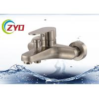 China Steel Bathroom Plumbing Accessories Level Handle Wall Mount Tub Faucet on sale