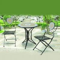 Mosaic K/D Table with Chair, Ideal as Patio Set Manufactures