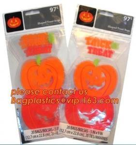 Halloween disposable tin tie paper bag/bread/popcorn/fries/chips/cookies/candies/goodies bags with  bagease bagplastics Manufactures