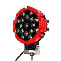 """51W 7"""" Red Flood Round LED Work Light Off-road Fog Driving Roof Bumper for SUV Boat Jeep Lamp Manufactures"""