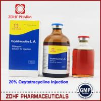 China Cattle antibiotic drugs oxytetracycline injection 5% 10% 20% 30% on sale