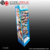 Corrugated cardboard retail hanging floor display stand with hooks Manufactures