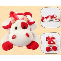 Promotion Gifts Lovely Red Cow Shape Custom Small Stuffed Animals For Children Manufactures
