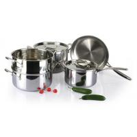 Quality 5Pcs 3-ply stainless steel cookware set SHCY-3013 for sale