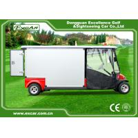 Red 2 Passenger 48V  Electric Ambulance Car For Emergency Closed Type Manufactures