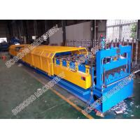 Galvanized Coil Floor Deck Roll Forming Machine PLC Control With Embossing Manufactures