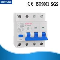 C40 White 4 Pole RCBO , IP20 Residual Current Breaker With Overload Protection  Manufactures