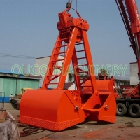 Material Handling 2 Rope Clamshell Excavator Mechanical Grab Bucket Manufactures