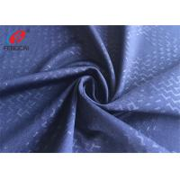 4 Way Lycra Weft Knitted Fabric Embossed Polyester Spandex Fabric For Sportswear Manufactures