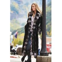 Maertisa Mink Fur Coat with Silver Fox Fur Trim manufacturer wholesale with free shipping by express Manufactures