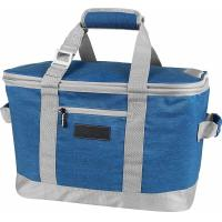 Blue / Charcoal Insulated Freezer Tote Bags , 50 Can Canvas Cooler Tote Bags Manufactures