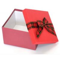 China Grey Cardboard Custom Paper Gift Box With Ribbon Bow , Gift Packing Box on sale