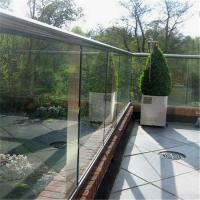 Quality Commercial aluminum channel base balustrade glass railing for sale