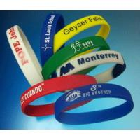 China 100% Silicone Full Color Printing Custom Silicone Wristband For Younger Size 190x12x2mm on sale
