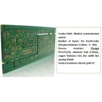 China Fourth Order Printed Circuit Board Assembly HDI Plate Thickness 3.50m Gold Plating on sale