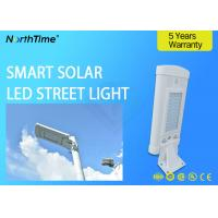 1500LM High Efficiency 10w Solar Powered LED Street Lights With 120° Viewing Angle Manufactures