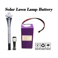 6.4V 10Ah Cylindrical Lithium Ion Battery / Cylindrical Battery Pack For Solar Lawn Lamp Manufactures