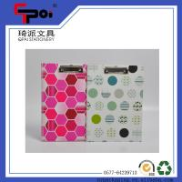 China A4 PP Stationery Supplier Plastic Office Full Color Print Document Report Clip File Folder Clipboard on sale