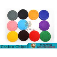 Roulette Dedicated / Solid Color ABS Poker Chips Can Be Custom or Print Logo Manufactures