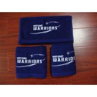 100% cotton Small MOQ blue color gym/sport/golf towel with custom brand logo Manufactures