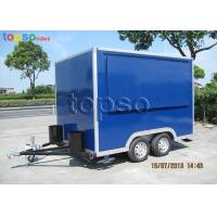 China Fast Mobile Food Trailer Heavy Duty Square Mobile Catering Trailer on sale