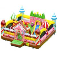 Candy House Inflatable Attractions Playground Combo Games Amusement Park Manufactures