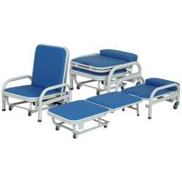 Waterproof Hospital Furniture Chairs / Folding Accompany Chair Easy Move Manufactures
